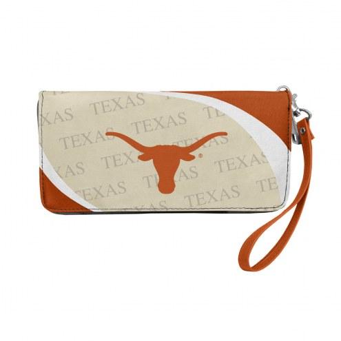 Texas Longhorns Curve Zip Organizer Wallet