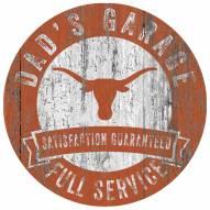 Texas Longhorns Dad's Garage Sign