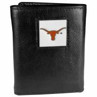 Texas Longhorns Deluxe Leather Tri-fold Wallet in Gift Box