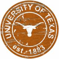 Texas Longhorns Distressed Round Sign