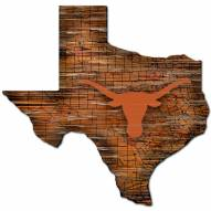 Texas Longhorns Distressed State with Logo Sign