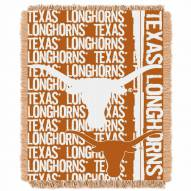 Texas Longhorns Double Play Woven Throw Blanket