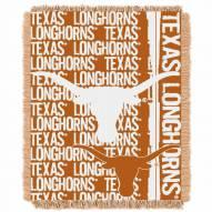 Texas Longhorns Double Play Woven Throw Blanket