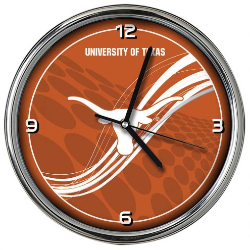 Texas Longhorns Dynamic Chrome Clock