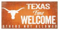 Texas Longhorns Fans Welcome Sign