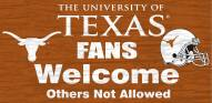Texas Longhorns Fans Welcome Wood Sign