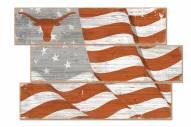 Texas Longhorns Flag 3 Plank Sign