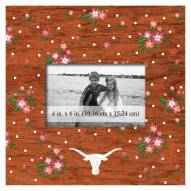 """Texas Longhorns Floral 10"""" x 10"""" Picture Frame"""