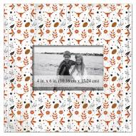 """Texas Longhorns Floral Pattern 10"""" x 10"""" Picture Frame"""