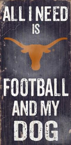 Texas Longhorns Football & Dog Wood Sign