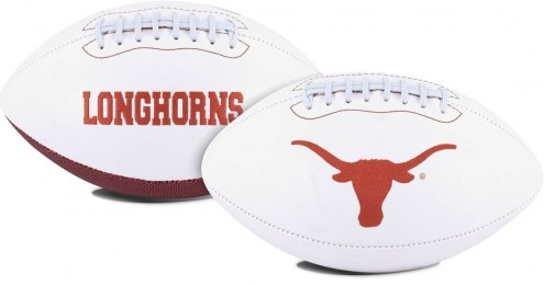 Texas Longhorns Full Size Embroidered Signature Series Football