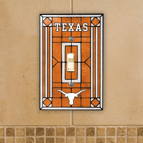 Texas Longhorns Glass Single Light Switch Plate Cover