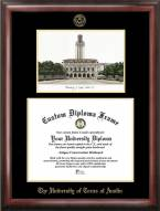 Texas Longhorns Gold Embossed Diploma Frame with Campus Images Lithograph