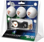 Texas Longhorns Golf Ball Gift Pack with Spring Action Divot Tool