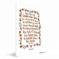 Texas Longhorns Hand-Painted Song Canvas Print