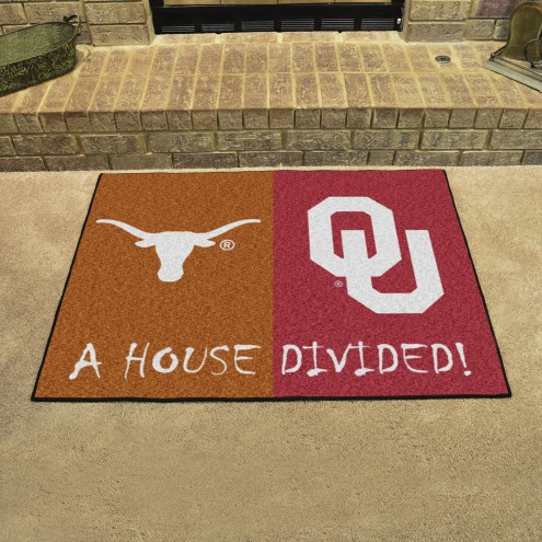 Texas Longhorns/Oklahoma Sooners House Divided Mat