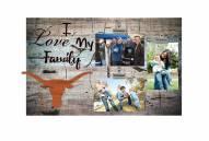 Texas Longhorns I Love My Family Clip Frame