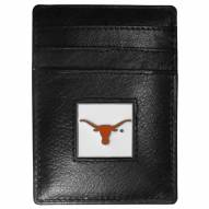Texas Longhorns Leather Money Clip/Cardholder in Gift Box