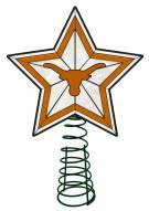 Texas Longhorns Light Up Art Glass Tree Topper