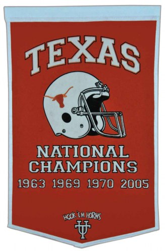 Winning Streak Texas Longhorns NCAA Football Dynasty Banner