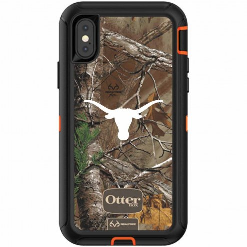Texas Longhorns OtterBox iPhone X Defender Realtree Camo Case