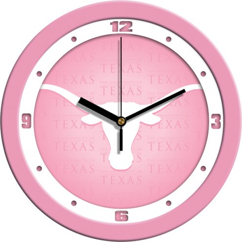 Texas Longhorns Pink Wall Clock