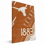 Texas Longhorns Retro Canvas Print
