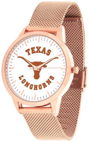 Texas Longhorns Rose Mesh Statement Watch