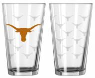 Texas Longhorns Satin Etch Pint Glass - Set of 2