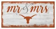 Texas Longhorns Script Mr. & Mrs. Sign