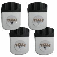 Texas Longhorns 4 Pack Chip Clip Magnet with Bottle Opener