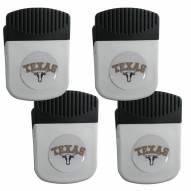 Texas Longhorns 4 Pack Chip Clip Magnet with Bottle Opener