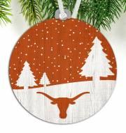 Texas Longhorns Snow Scene Ornament