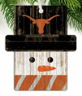 Texas Longhorns Snowman Ornament