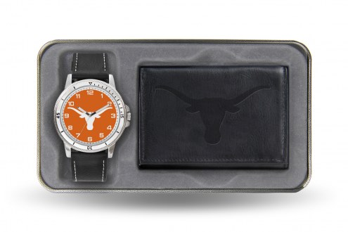 Texas Longhorns Sparo Men's Chicago Watch & Wallet Set