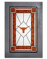 Texas Longhorns Stained Glass with Frame