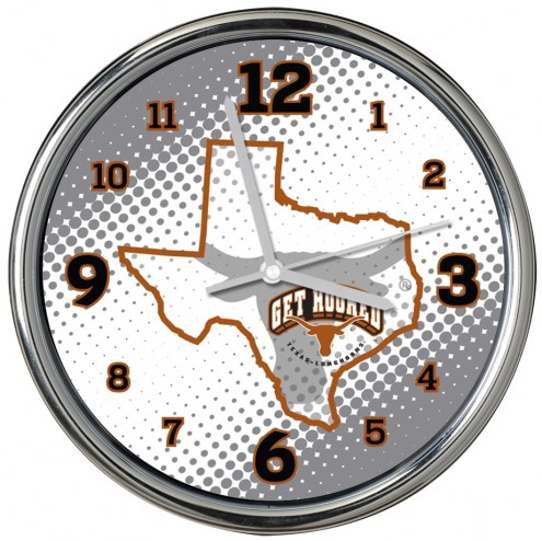 Texas Longhorns State of Mind Chrome Clock