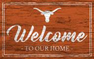 Texas Longhorns Team Color Welcome Sign