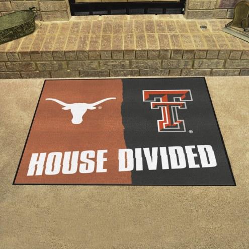 Texas Longhorns/Texas Tech Red Raiders House Divided Mat