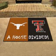 Texas Longhorns/Texas Tech Red Raiders House Divided Mat