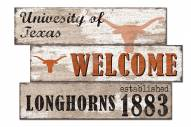 Texas Longhorns Welcome 3 Plank Sign