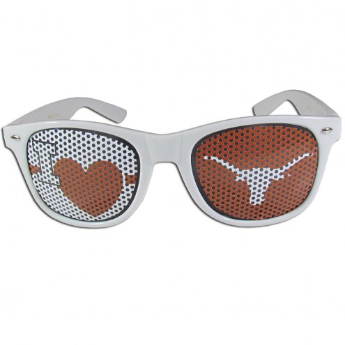 Texas Longhorns White I Heart Game Day Shades