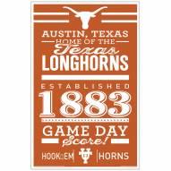 Texas Longhorns Established Wood Sign