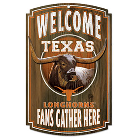 Texas Longhorns Wood Sign