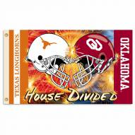 Texas/Oklahoma 3' x 5' House Divided Flag