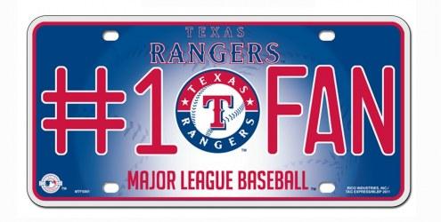 Texas Rangers #1 Fan License Plate