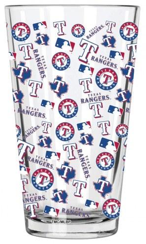 Texas Rangers 16 oz. All Over Print Pint Glass