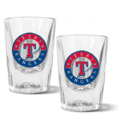 Texas Rangers 2 oz. Prism Shot Glass Set