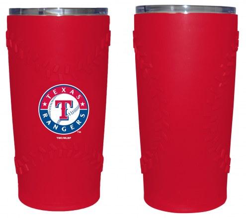Texas Rangers 20 oz. Stainless Steel Tumbler with Silicone Wrap
