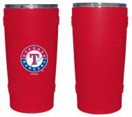 Texas Rangers 20 oz. Stainless Steel Tumbler with Silicone Wrap